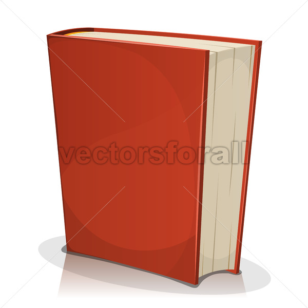 Red Book Cover Isolated On White - Vectorsforall