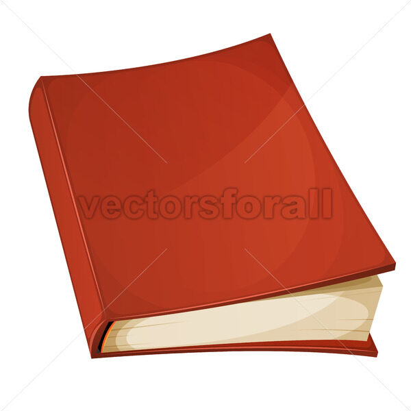 Red Book Isolated - Vectorsforall