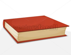 Red Book Isolated On White - Vectorsforall