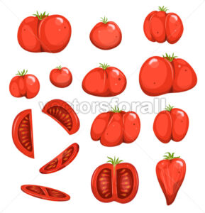 Red Tomatoes Set - Vectorsforall