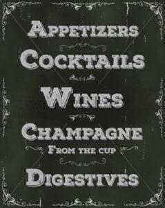 Restaurant Drinks And Beverage Background - Vectorsforall