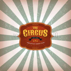 Retro Circus Background With Texture - Vectorsforall