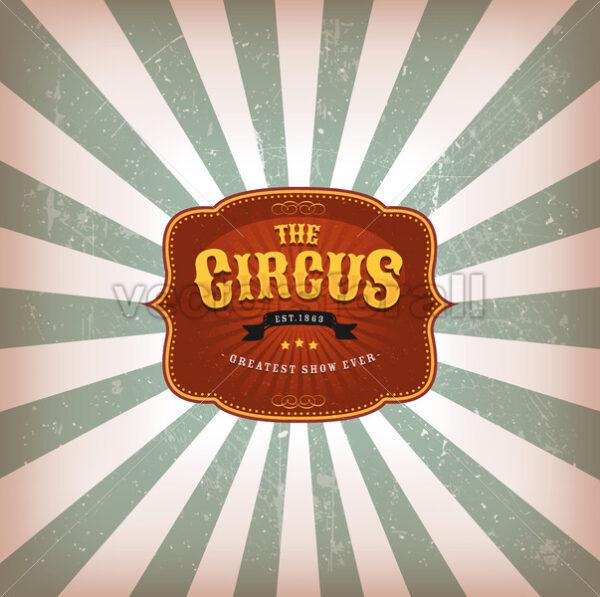 Retro Circus Background With Texture - Vectorsforall
