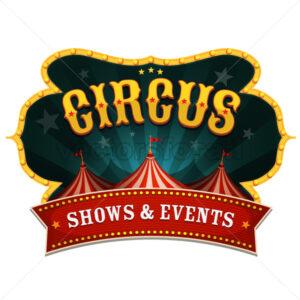 Retro Circus Banner - Vectorsforall