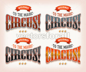 Retro Circus Banners - Vectorsforall