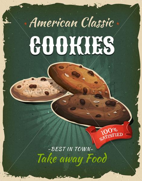 Retro Fast Food Cookies Poster - Vectorsforall