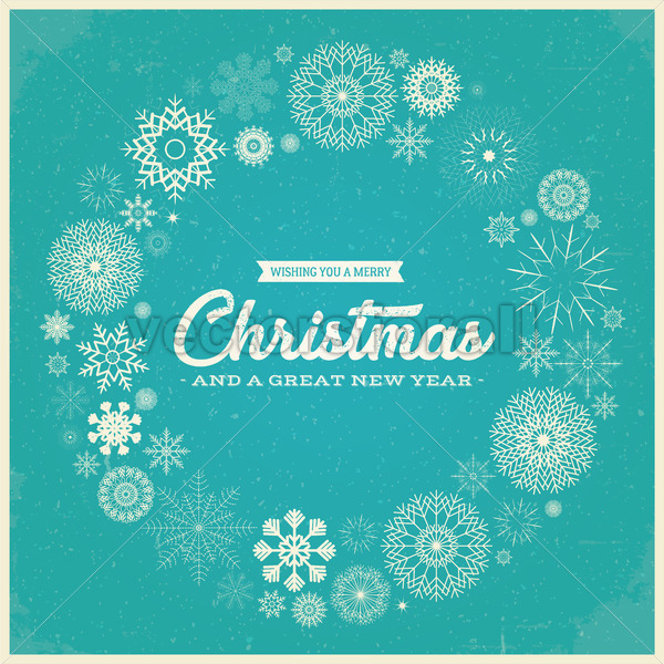 Retro Merry Christmas Greetings - Vectorsforall