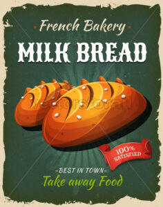 Retro Milk Bread Poster - Vectorsforall
