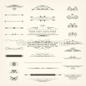 Retro Ornaments And Decorations Set - Vectorsforall