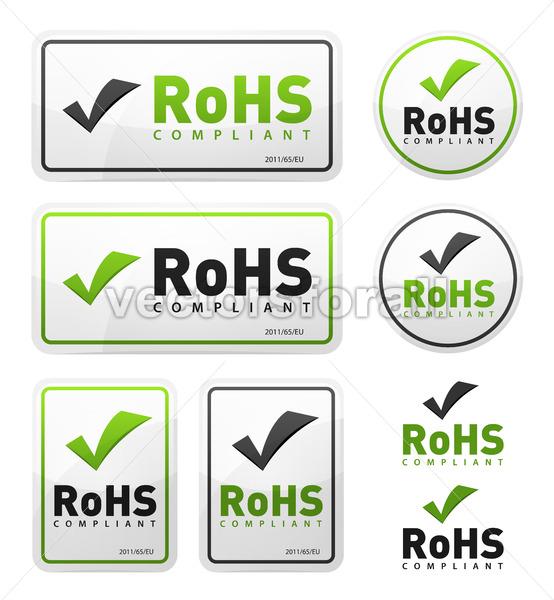 RoHS Compliant Icons Set - Vectorsforall