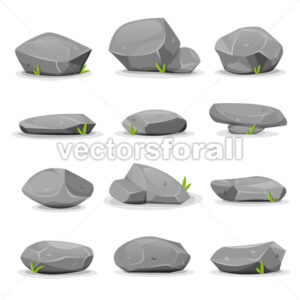 Rocks And Boulders Set - Vectorsforall