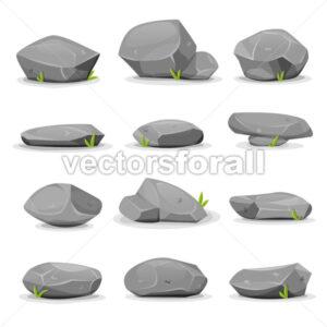 Rocks And Boulders Set - Vectorsforall