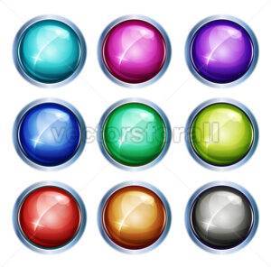 Rounded Light Icons And Buttons - Vectorsforall