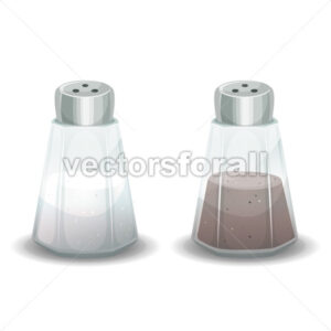 Salt And Pepper Spices Shaker - Vectorsforall