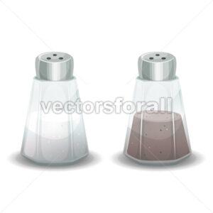 Salt And Pepper Spices Shaker - Vectorsforall