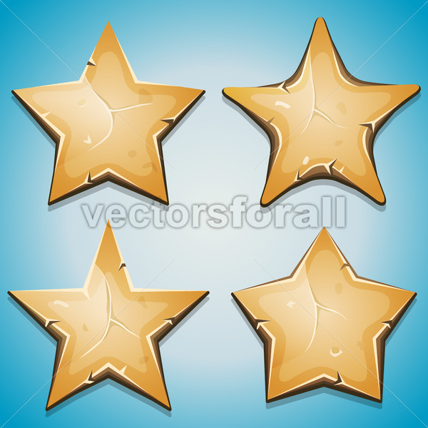 Sand Stars Icons For Ui Game - Vectorsforall