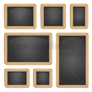 School Blackboard Set - Vectorsforall