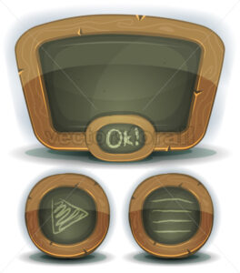 School Chalkboard Icons For Ui Game - Vectorsforall