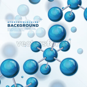 Science Background With Atoms And Molecules - Vectorsforall