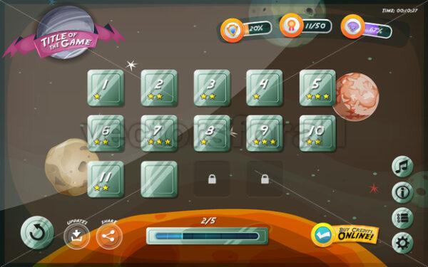 Scifi Game User Interface Design For Tablet - Vectorsforall
