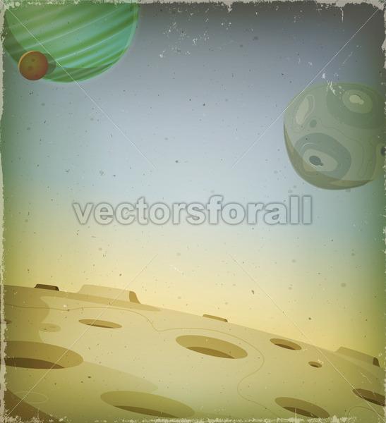 Scifi Grunge Alien Planet Background - Vectorsforall