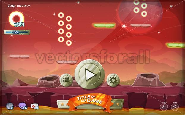 Scifi Platform Game User Interface For Tablet - Vectorsforall