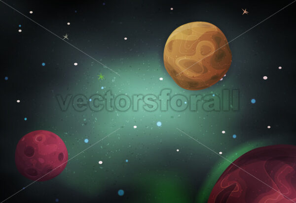 Scifi Space Background For Ui Game - Vectorsforall