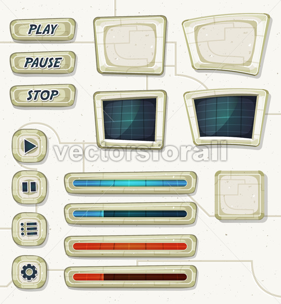 Scifi Space Icons For Ui Game - Vectorsforall