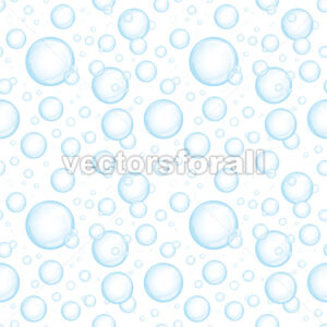Seamless Blue Water Bubbles Background - Vectorsforall