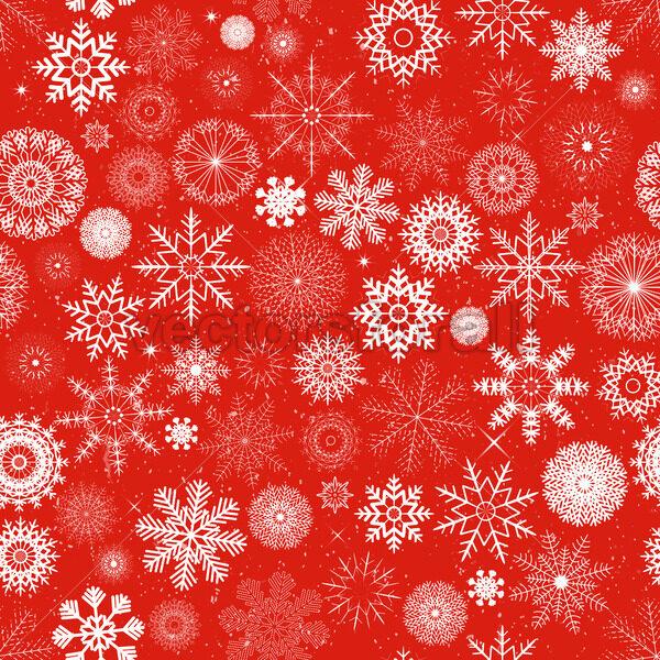 Seamless Christmas Snowflakes Background - Vectorsforall