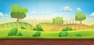 Seamless Country Landscape For Ui Game - Vectorsforall