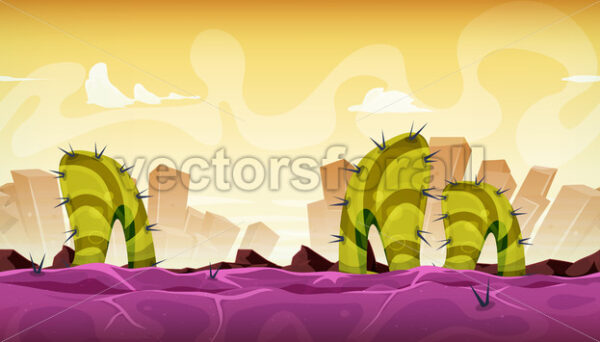 Seamless Fantasy Alien Landscape For Game Ui - Vectorsforall