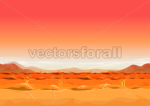 Seamless Far West Desert Landscape For Ui Game - Vectorsforall