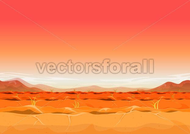 Seamless Far West Desert Landscape For Ui Game - Vectorsforall