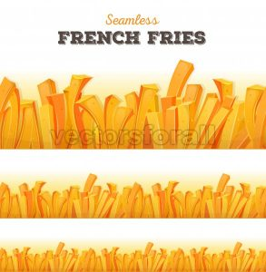 Seamless French Fries Background - Vectorsforall