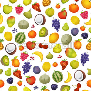Seamless Fruit Icons Background - Vectorsforall