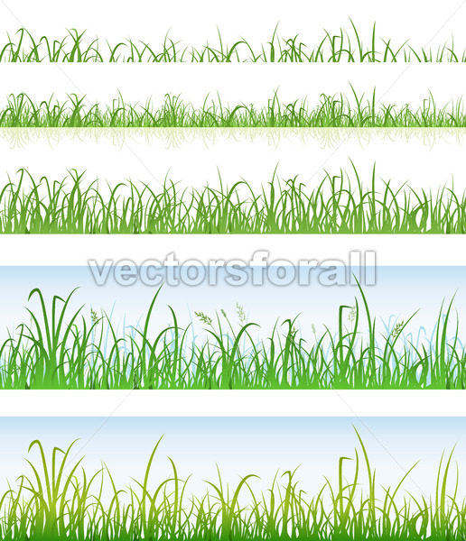 Seamless Green Grass Layers - Vectorsforall