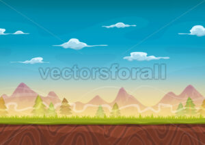 Seamless Mountains Landscape For Ui Game - Vectorsforall