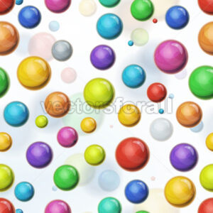 Seamless Multicolored Balls Background - Vectorsforall