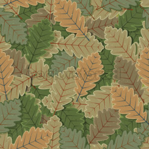 Seamless Oak Tree Leaves Background - Vectorsforall