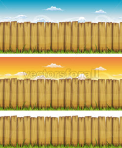 Seamless Spring Or Summer Wood Fence - Vectorsforall