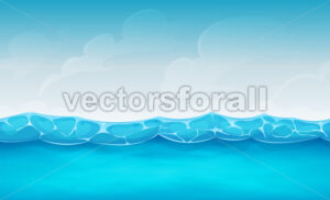 Seamless Summer Ocean Background For Ui Game - Vectorsforall