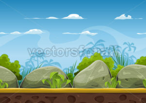 Seamless Tropical Beach Landscape For Ui Game - Vectorsforall
