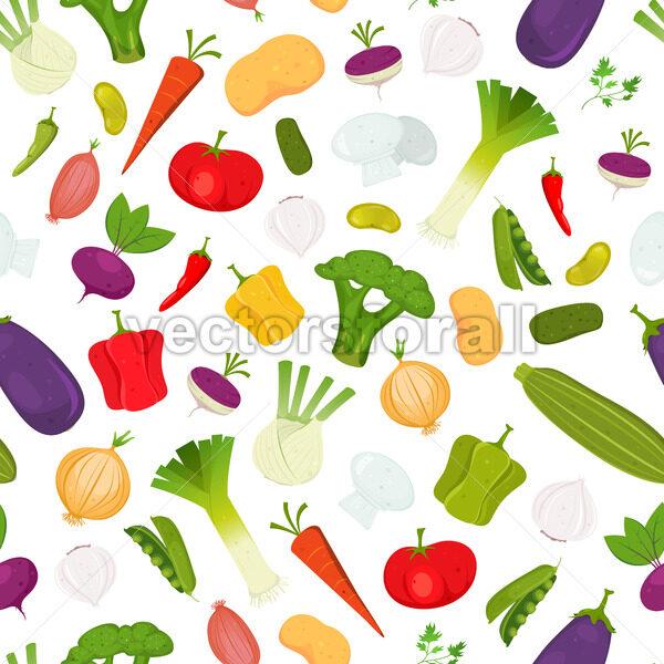 Seamless Vegetables Background - Vectorsforall