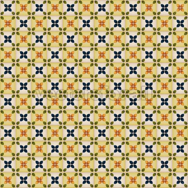 Seamless Wallpaper With Portuguese Tiles - Vectorsforall
