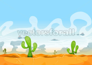 Seamless Western Desert Landscape For Ui Game - Vectorsforall