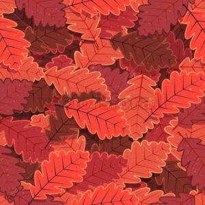 Seamless Winter Oak Tree Leaves Wallpaper - Vectorsforall