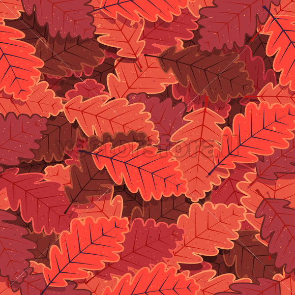 Seamless Winter Oak Tree Leaves Wallpaper - Vectorsforall