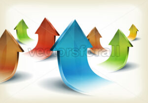 Set Of Business Glossy Arrows - Vectorsforall