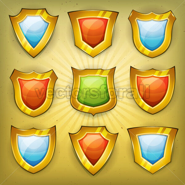 Shield Security Icons For Ui Game - Vectorsforall